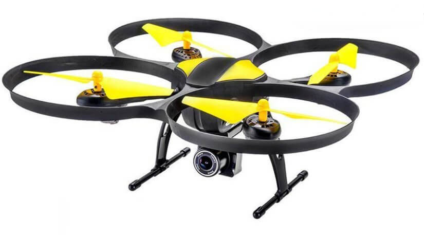 Altair Aerial 818 drone in yellow and black color.