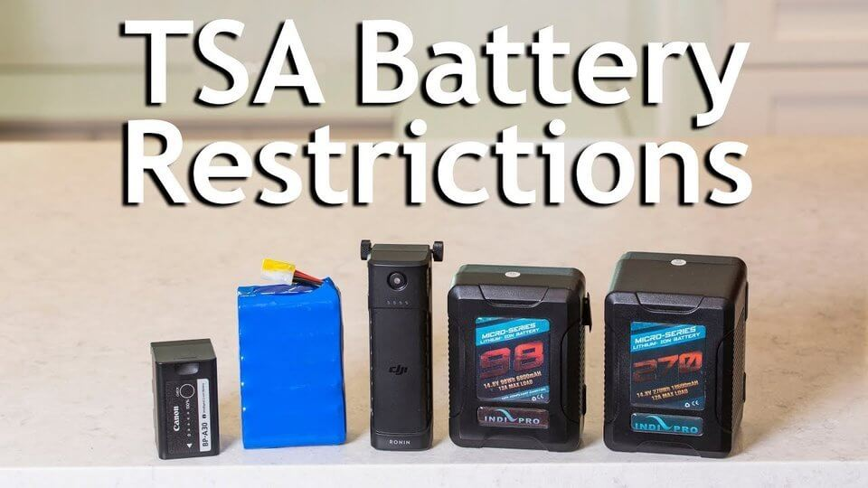 Different types of drone batteries