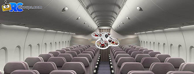 Drone On A Plane