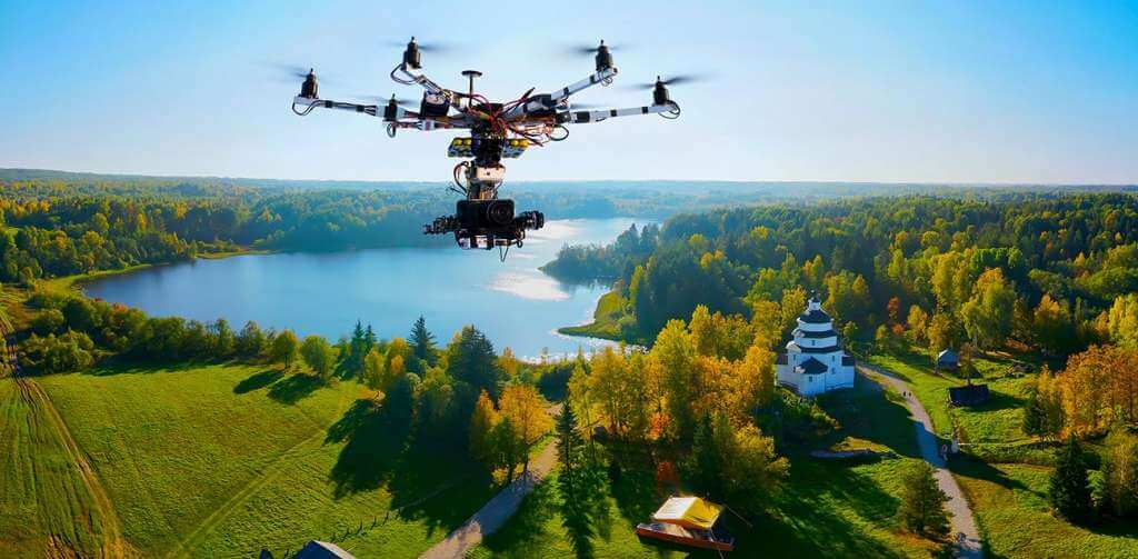 Drone Taking Picture Of Landscape