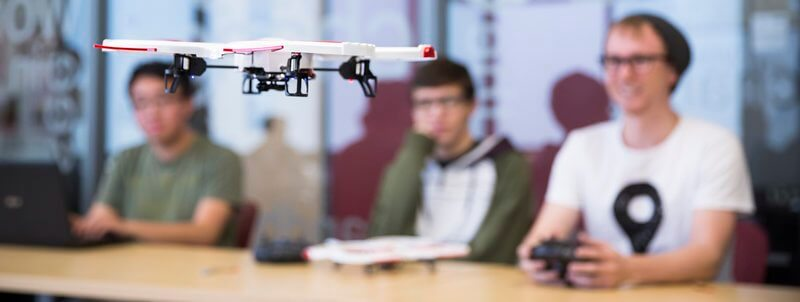 Drone College with students