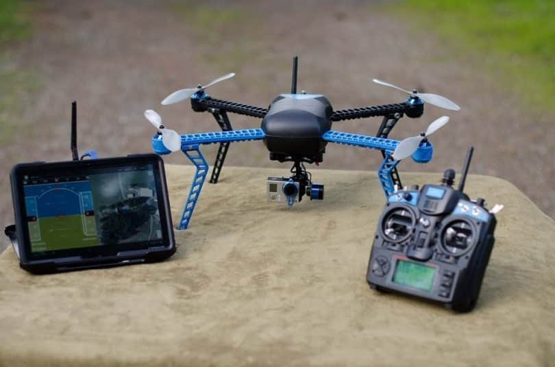 Image of 3DR IRIS DRONE With Its Controller.
