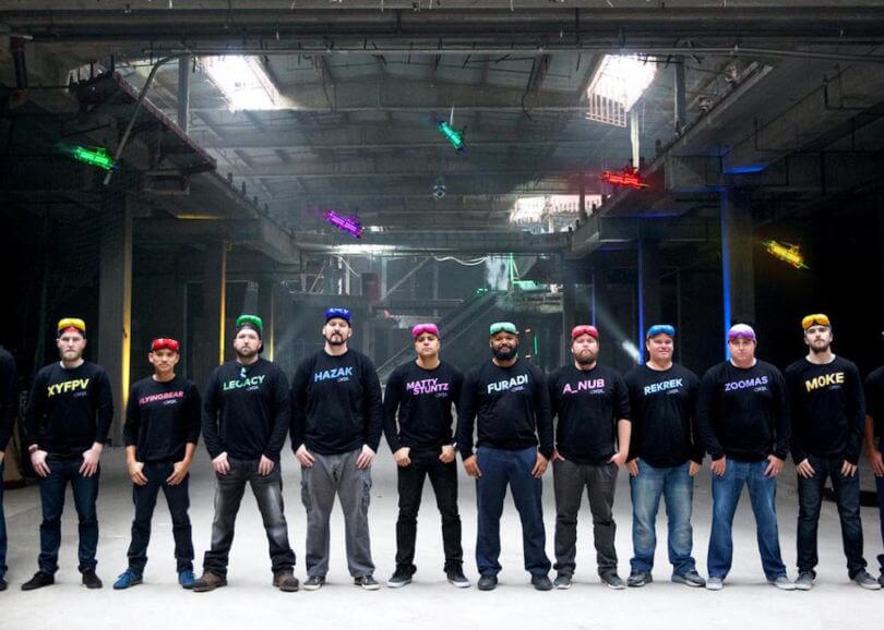 Drone Racing Pilots standing together.