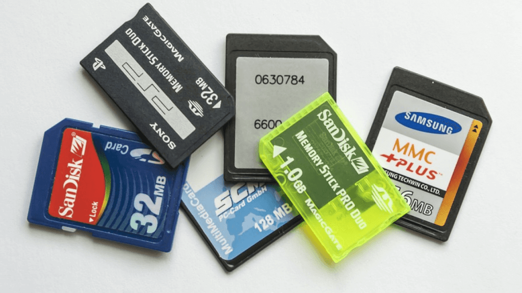 Different type of SD Cards.