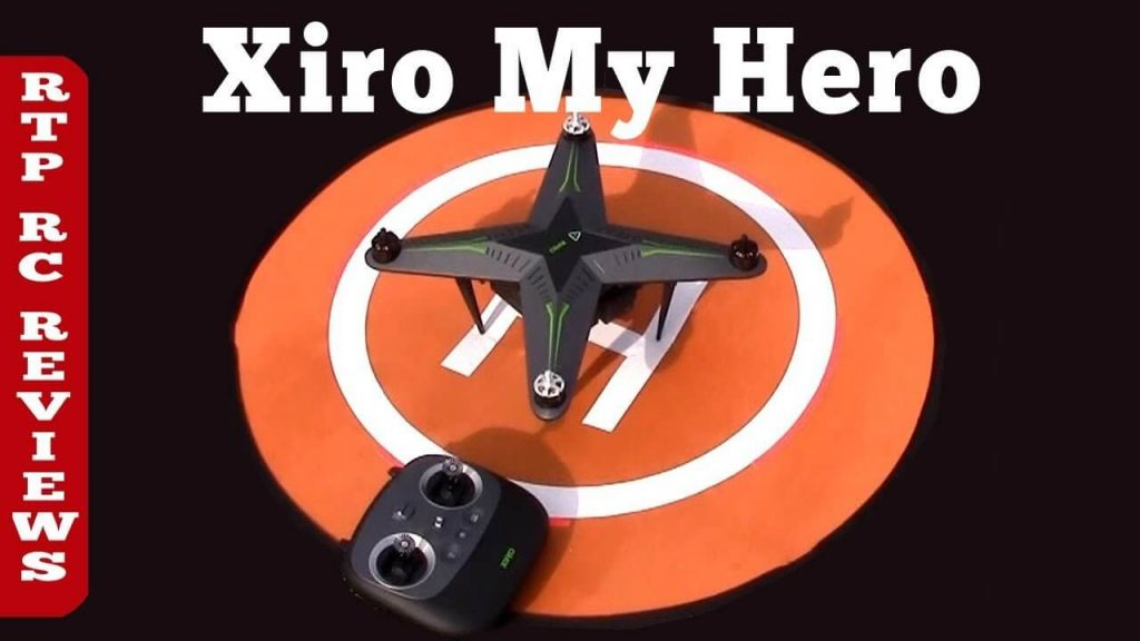 Image of Xiro Xplorer Aerial V Drone with launchpad and controller ready to take off.