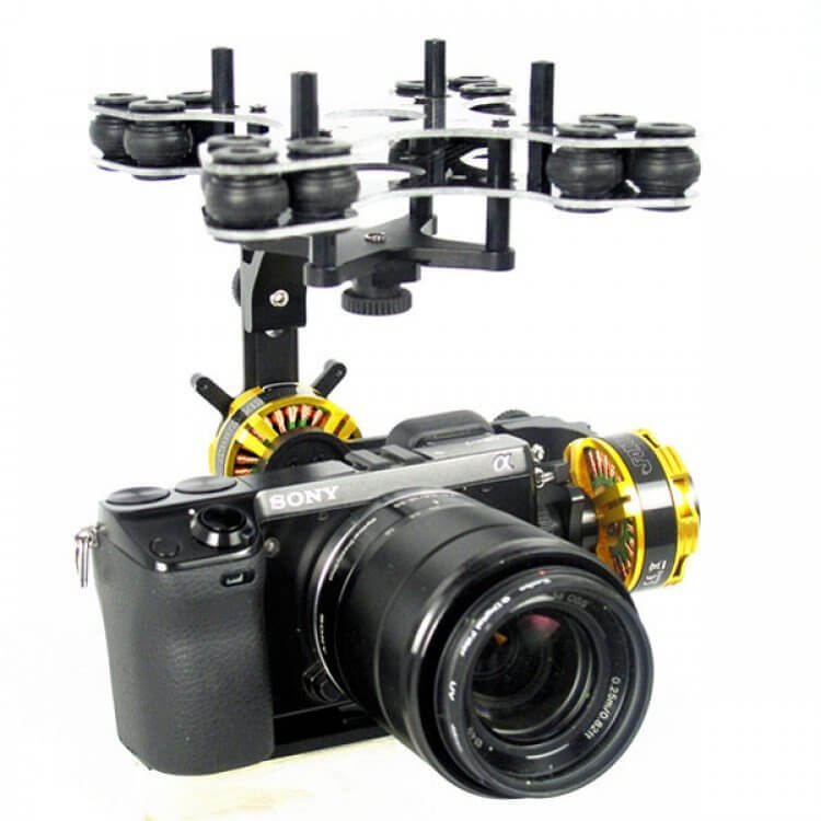 2- axis camera movement to turn the camera during shooting.