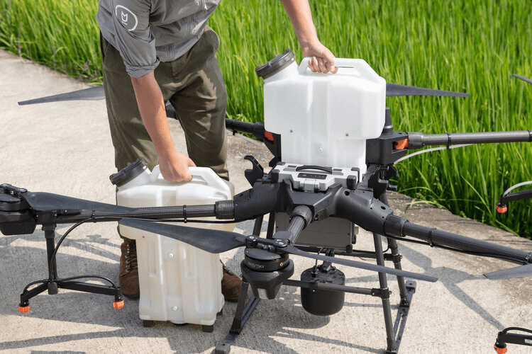 DJI AGRAS is the best drone for agriculture needs.