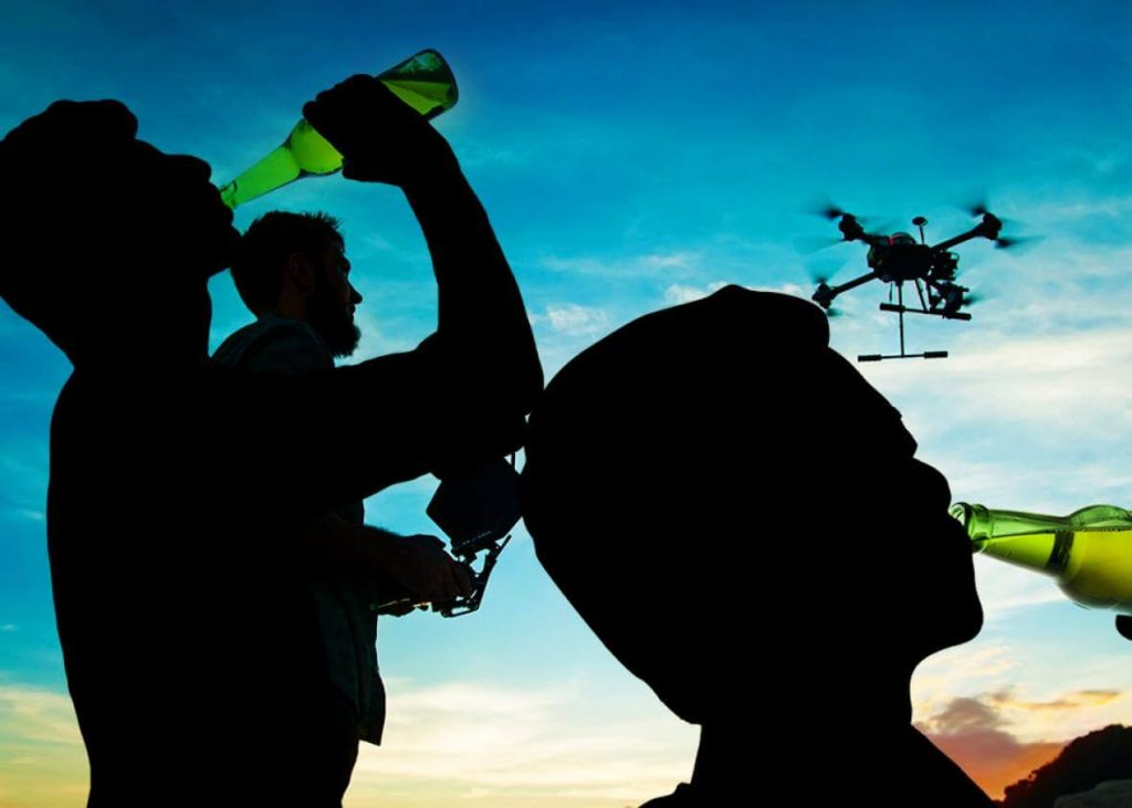 Don't drink and fly drones as it is dangerous for you and others.