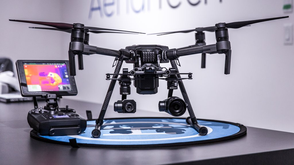 DJI MATRICE 210 Drone with its controller.