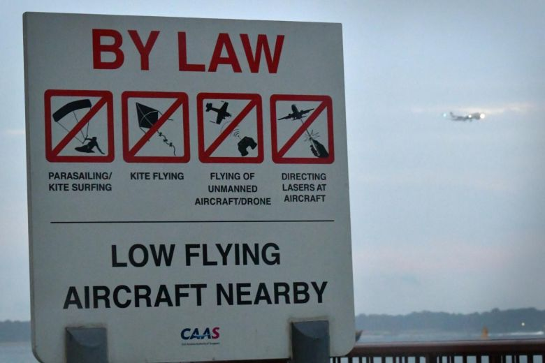 No Fly Zone signboard for drone.