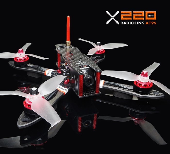 ARIS X220 is an excellent racing drone for beginners and intermediate pilots.