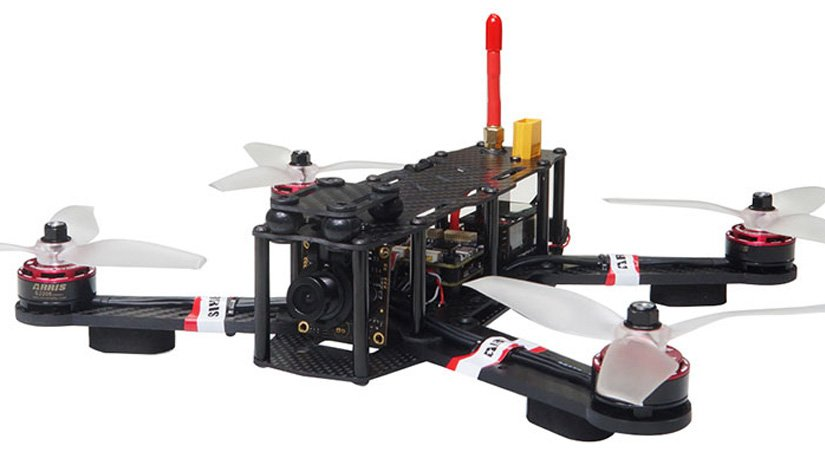 ARRIS X-SPEED 250B V3 Racing Drone in White, Red and Black Color.