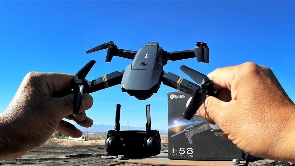 A Black Color Eachine E58 Drone.