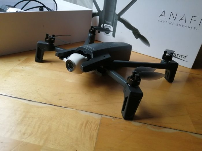 Parrot Anafi 4k drone out of the box.