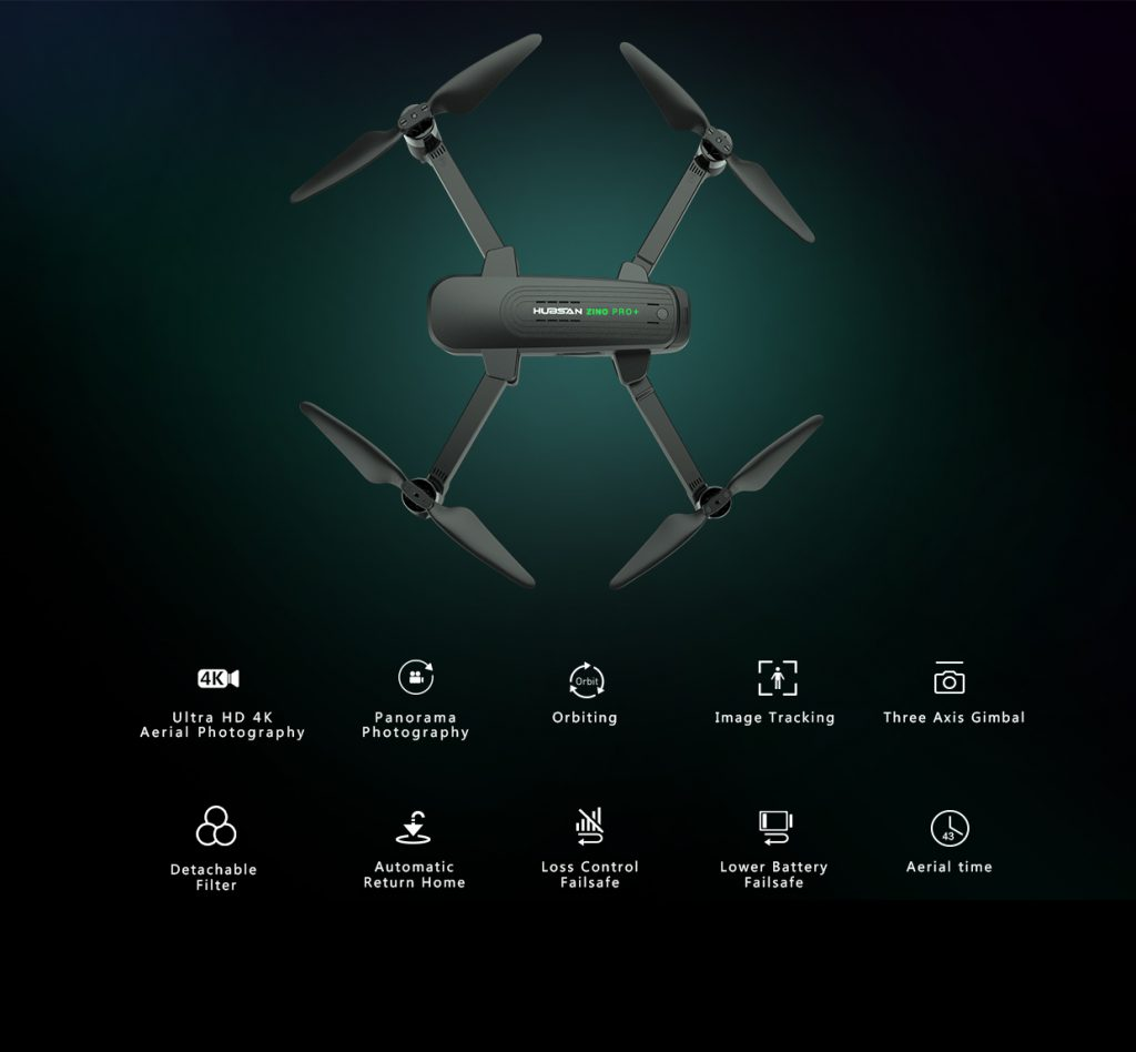 Hubsan Zino Pro Plus drone with its configuration