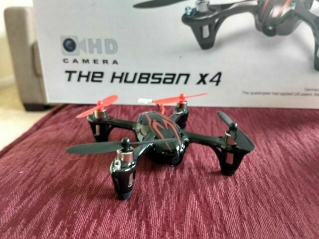 Hubsan X4 H107C drone with the box