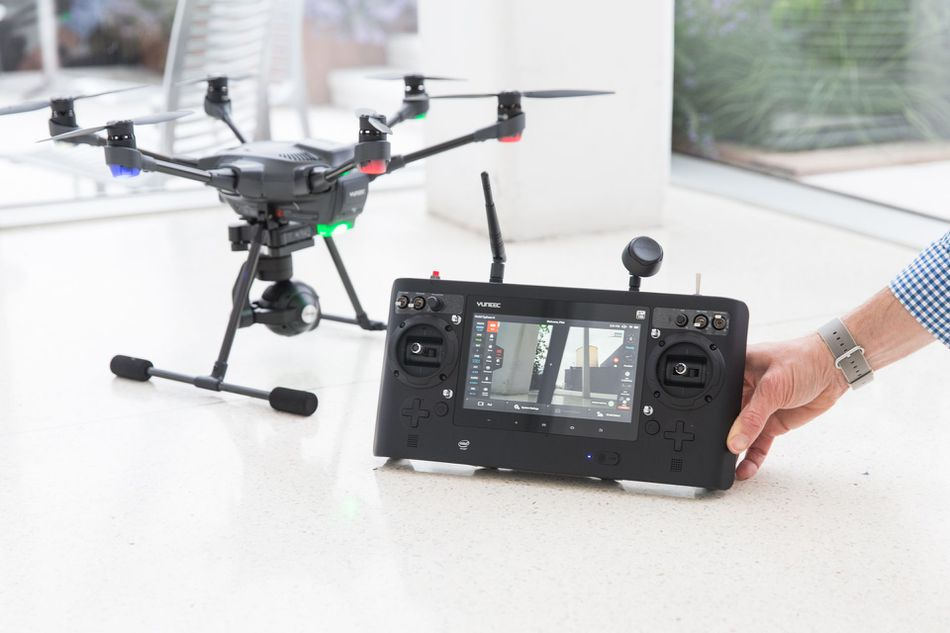 Yuneec Typhoon H Pro with its controller