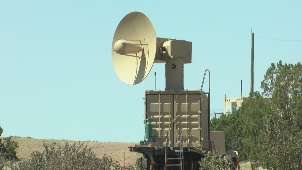 A high-power microwave device in the middle of the desert