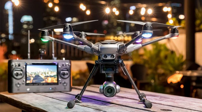 Yuneec Typhoon H Plus drone along with its controller